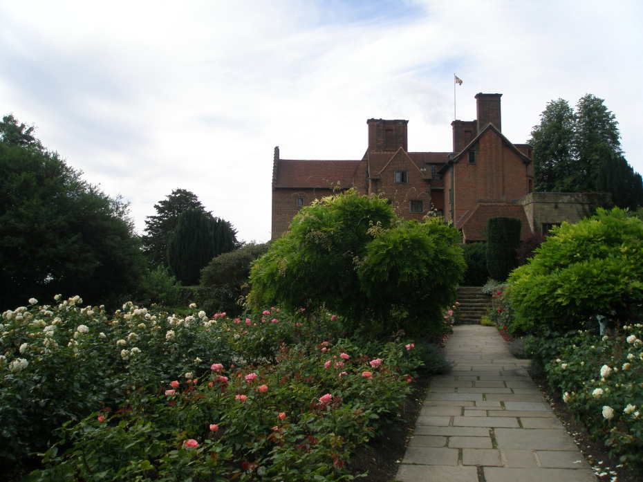 Once through the Gate and into Lady Churchill's Rose Garden, this was our first view of the House. Four standard wisterias grow where the garden paths meet.