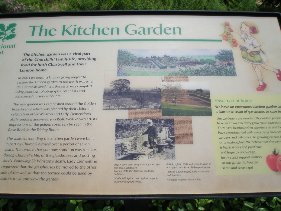 The extensive Kitchen Gardens surround the Golden Rose Avenue