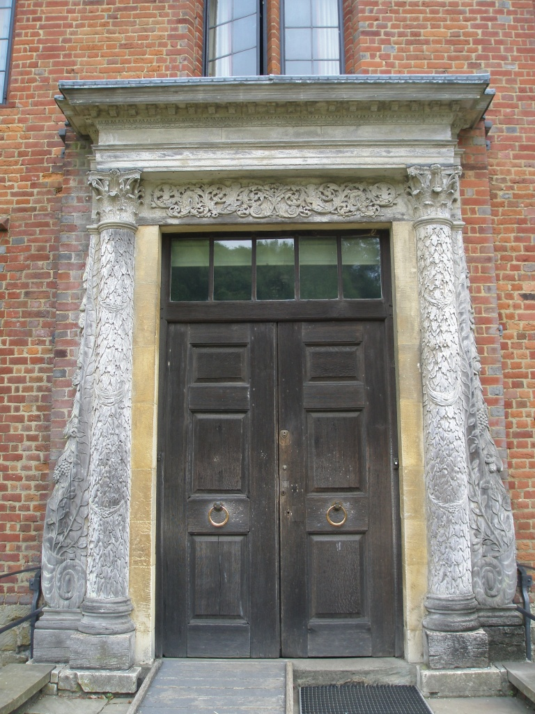 The architect Philip Tilden, who oversaw all of Churchill's renovations and additions at Chartwell, found this elegant 18th century wooden doorcase at an antique shop in London.