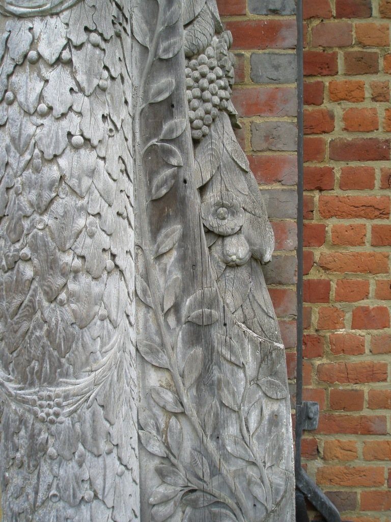 Detail of wooden doorcase at Front Entry to Chartwell.
