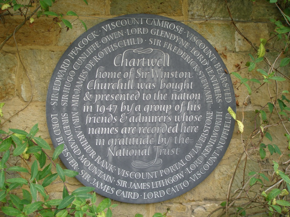 Plaque, on the kitchen terrace