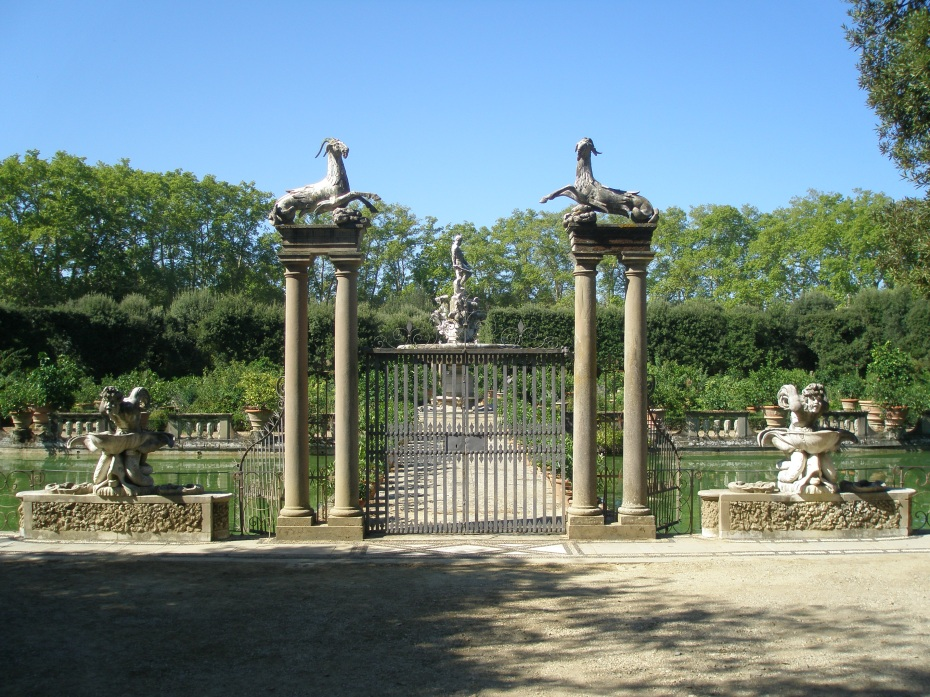 Another view of the original Oceanus Fountain in the Boboli Gardens. My photo, dated Sept. 9, 2012.