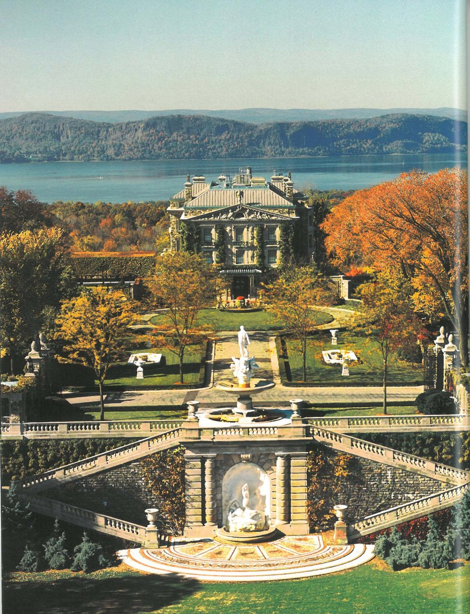 "A Bird's Eye view of Kykuit. Image courtesy of ""Kykuit,"" by Henry Joyce and the Historic Hudson Valley Press."