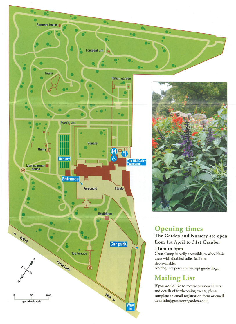 Plan of Great Comp Garden