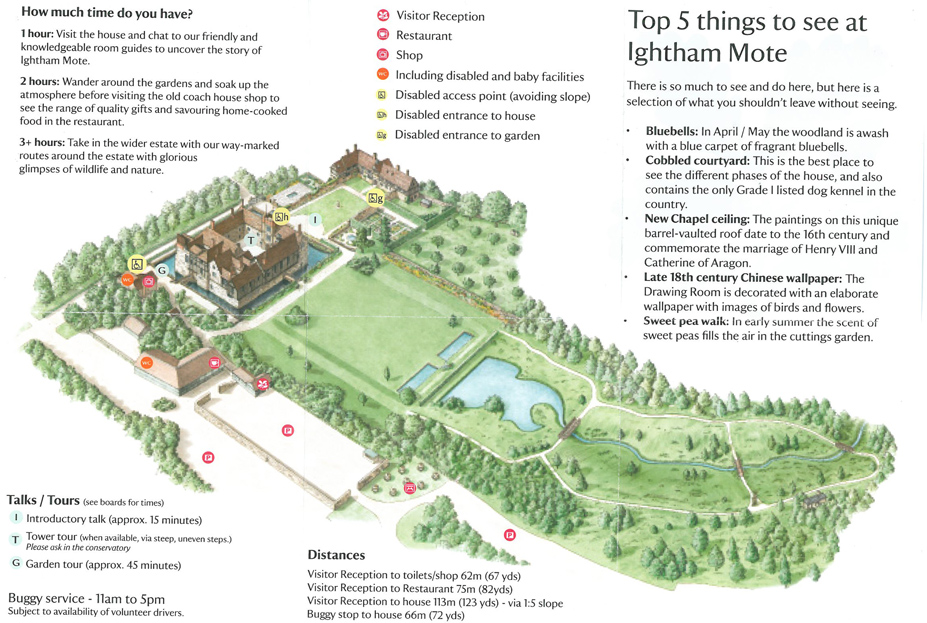 Map of the Grounds at Ightham Mote