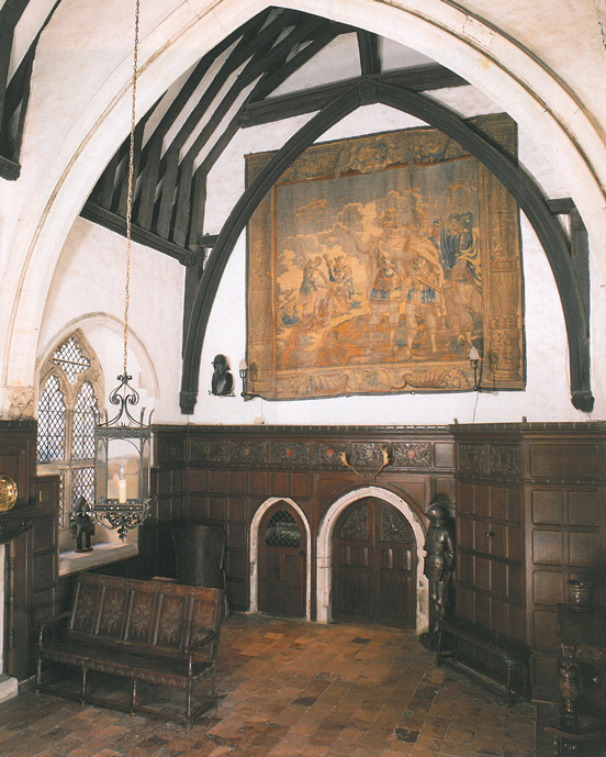 The Great Hall. This room was built in the 1330s and still forms the heart of the House. The roof, rising 11.3 metres above the floor, is the original. Image courtesy of The National Trust.