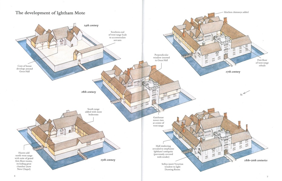 Diagram of the development of the Main House at Ightham Mote. Image courtesy of The National Trust.