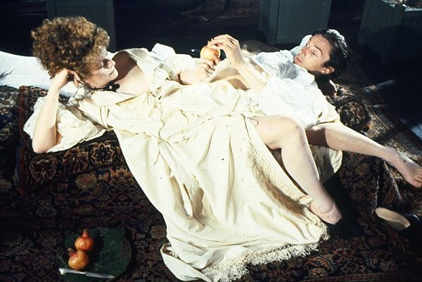 "Scene from the film THE DRAUGHTSMAN'S CONTRACT, after one of the 12 ""payments"" has been made to the Artist. Image courtesy of Peter Greenaway."