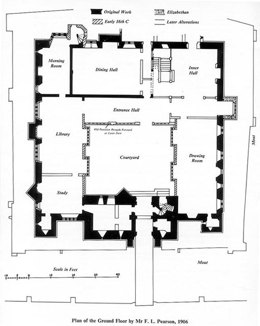 Hever Castle, Plan of Ground Floor
