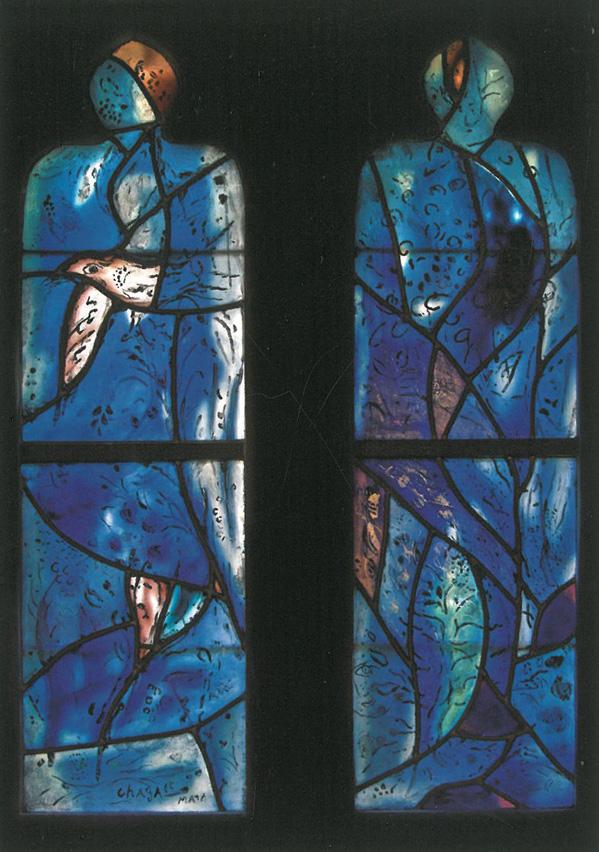 Windows by Marc Chagall, at All Saints Church. Image courtesy of All Saints Church.