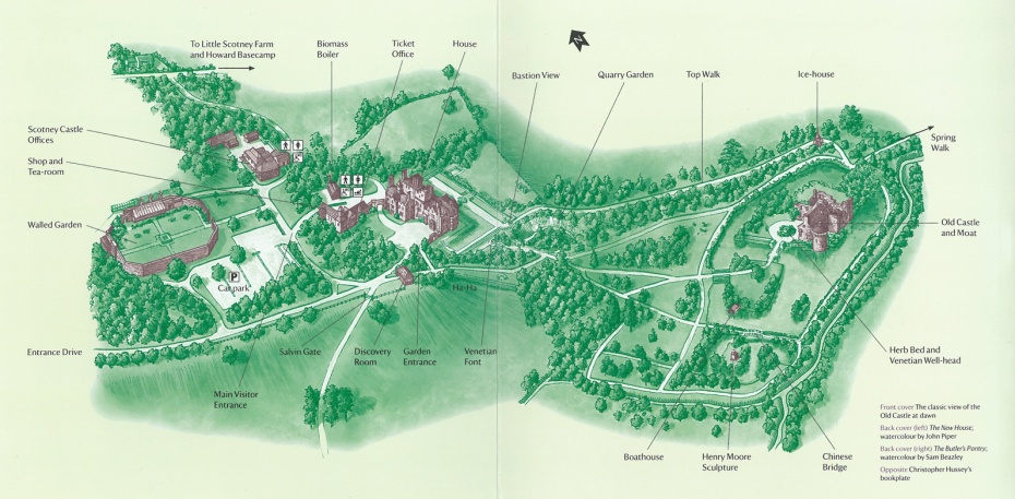 Map of the Grounds at Scotney Castle. Image courtesy of The National Trust.