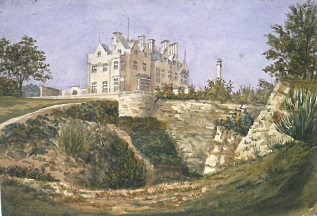 The Quarry at Scotney, before it was transformed into a garden. Image courtesy of The National Trust.