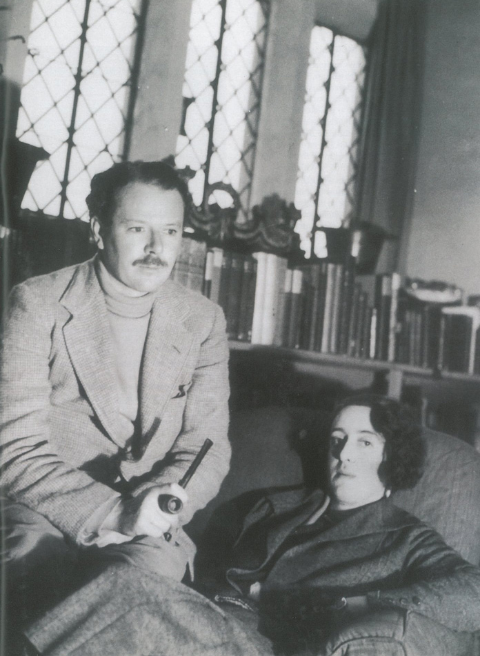 Harold Nicolson (born 1886, died 1968) and Vita Sackville-West (born 1892, died 1962) in the Tower Sitting Room at Sissinghurst Castle, circa 1930. Image courtesy of The National Trust.