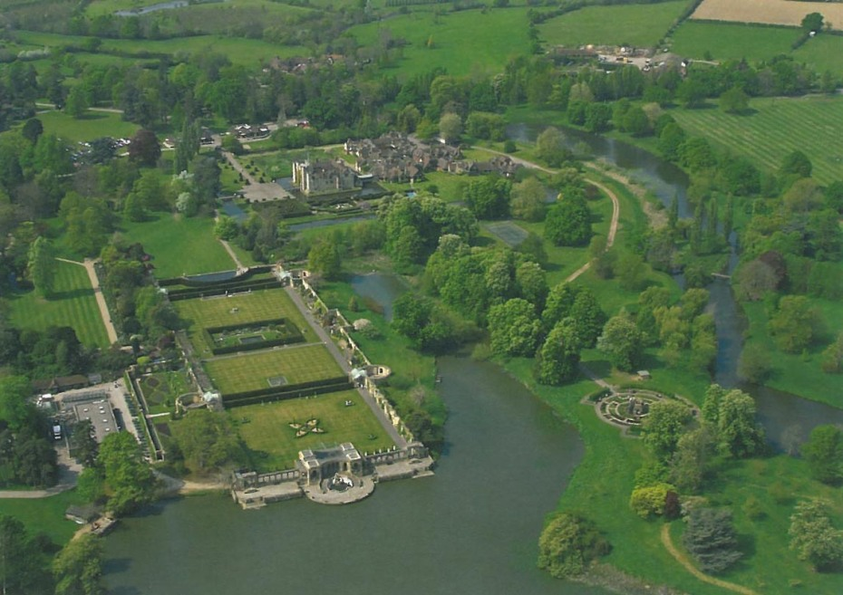Aerial view of Hever Castle & Gardens. Image courtesy of Hever Castle.