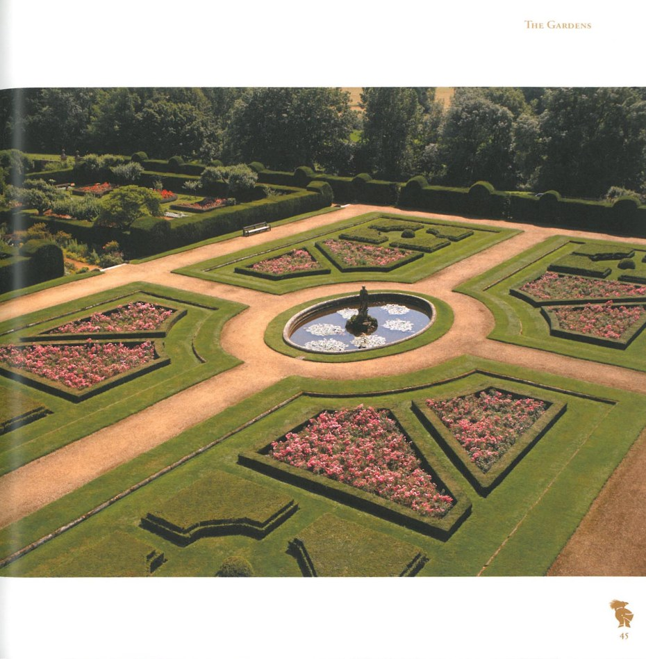 The Italian Garden, as seen from the highest floor of the House. Image courtesy of Penshurst Place.