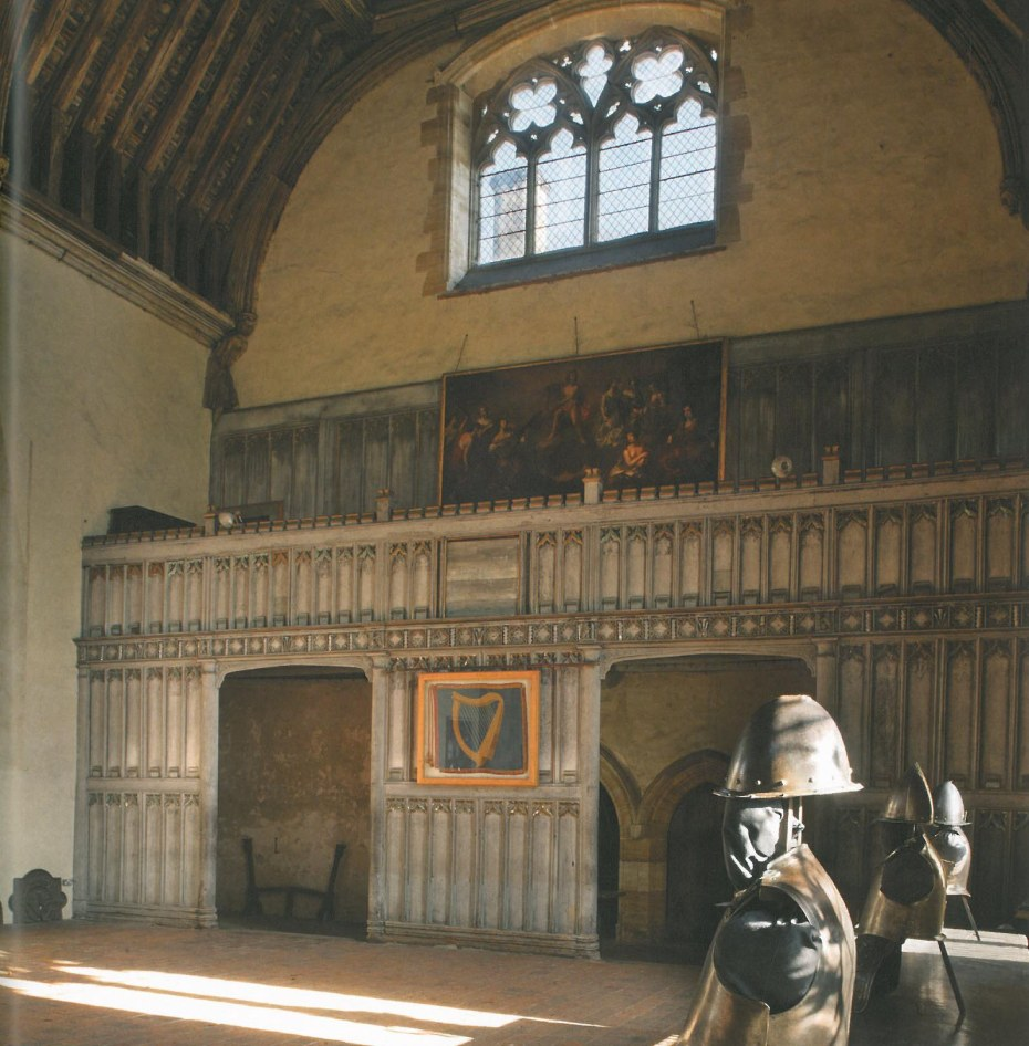 A closer look at the Minstrels' Gallery in the Baron's Hall. Image courtesy of Penshurst Place.