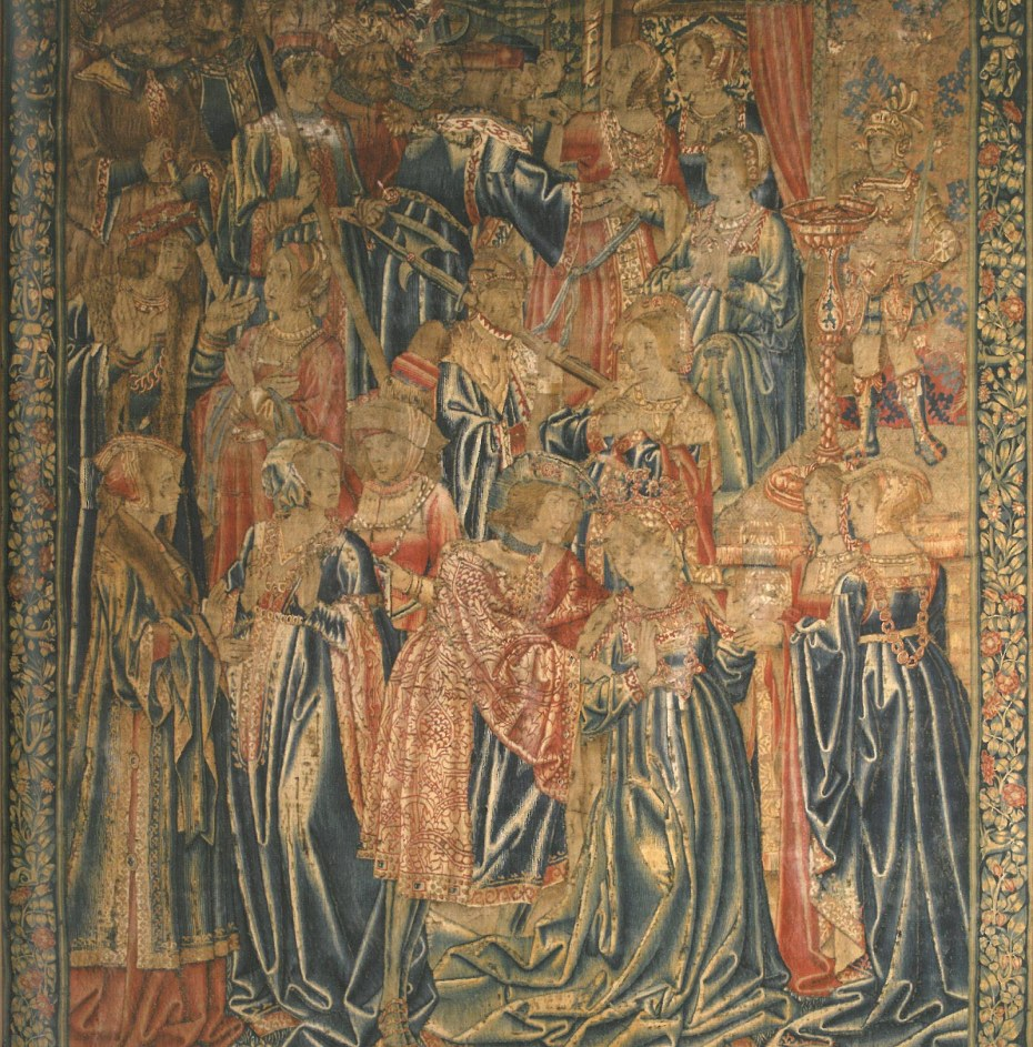 Detail of a 16th century Tournai Tapesty in the Tapestry Room. Image courtesy of Penshurst Place.