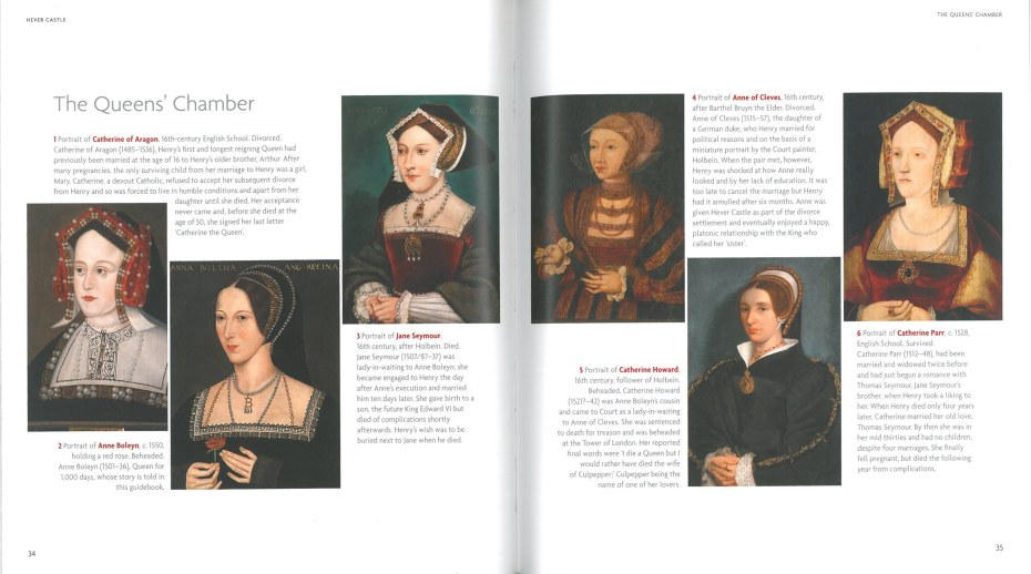 The six wives of King Henry VIII. Image courtesy of Hever Castle.