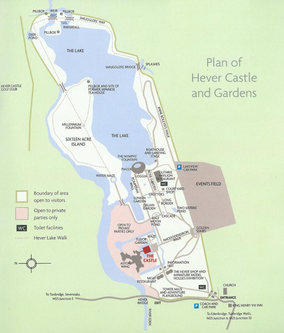 Plan of Hever Castle & Gardens