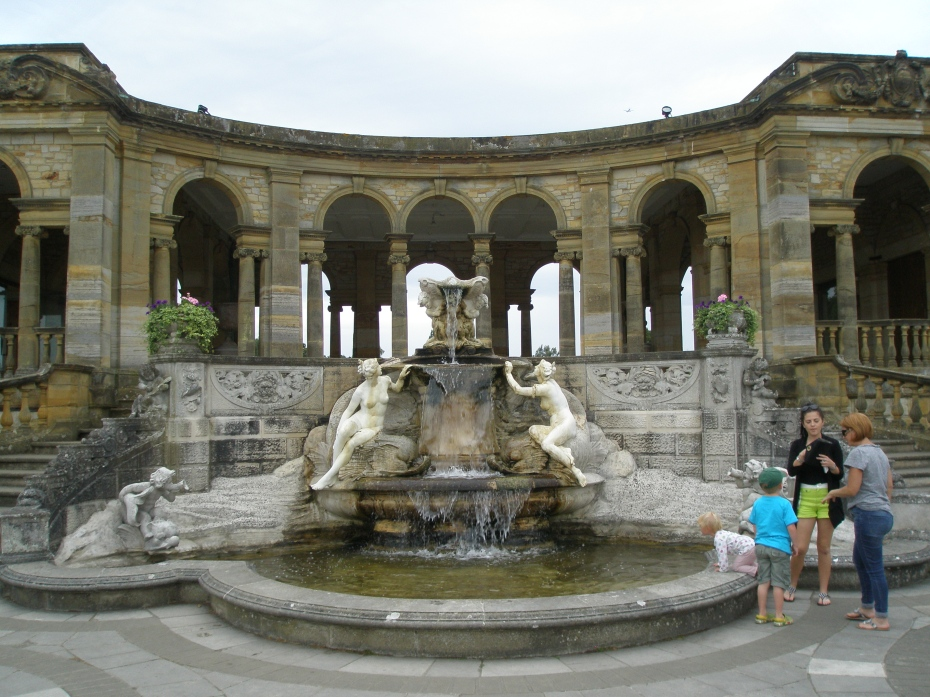 The Nymphs' Fountain, by the Loggia, at the east end of the Lake.