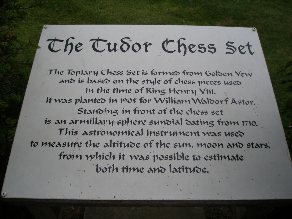 Astor installed the Chess Set