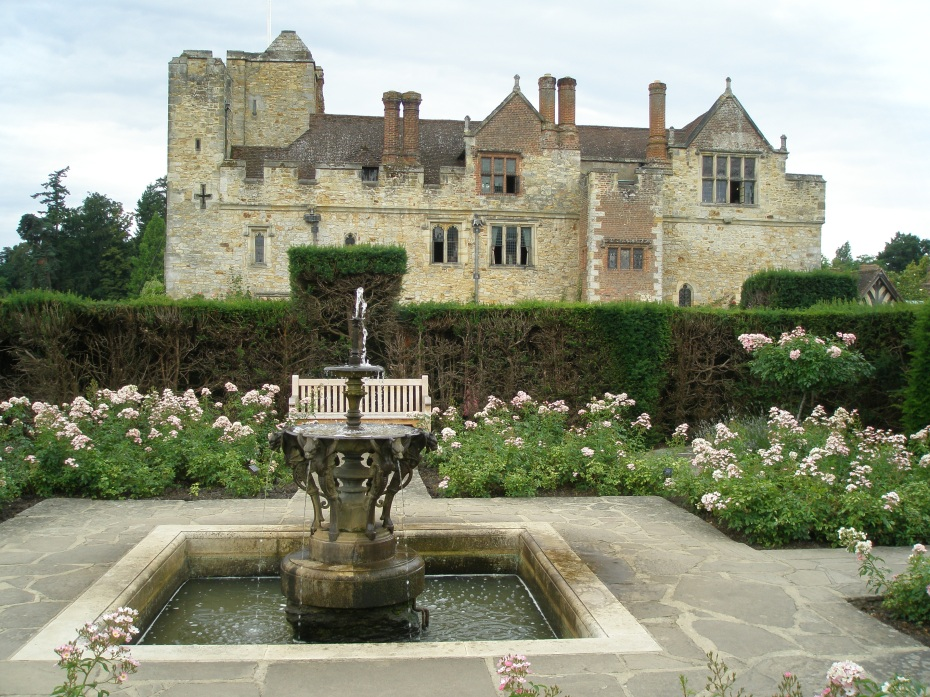 View of Hever Castle, from the Tudor Garden