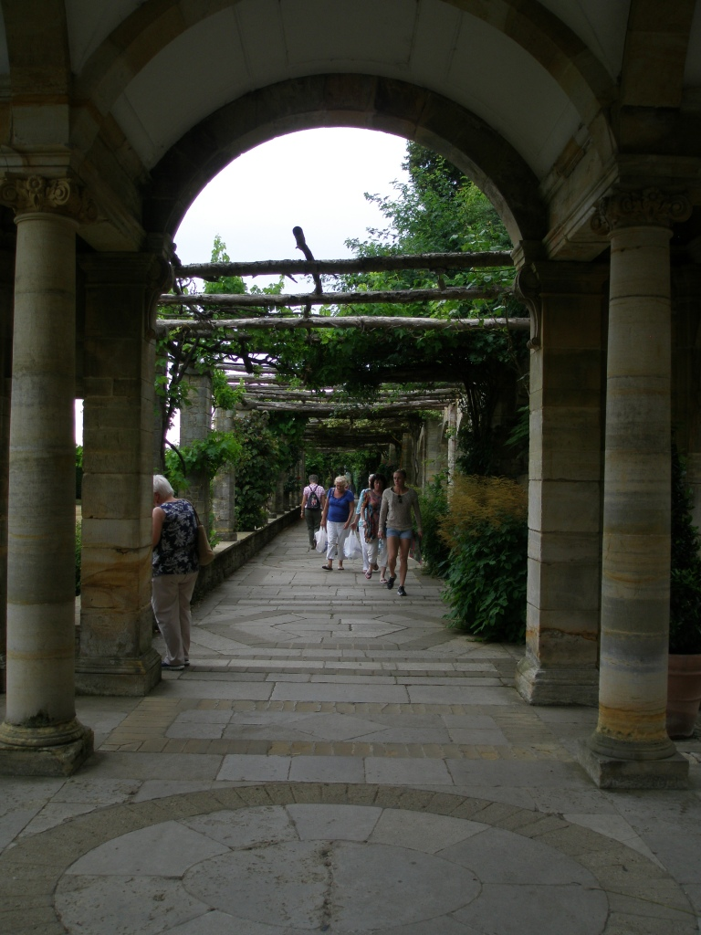 Rustin wooden Loggias extend along the length of the southern side of the Italian Garden