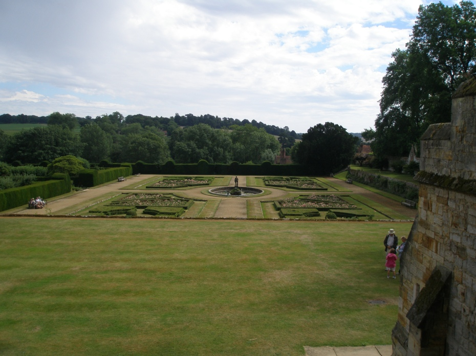 A view across the Italian Garden, from the South Lawn