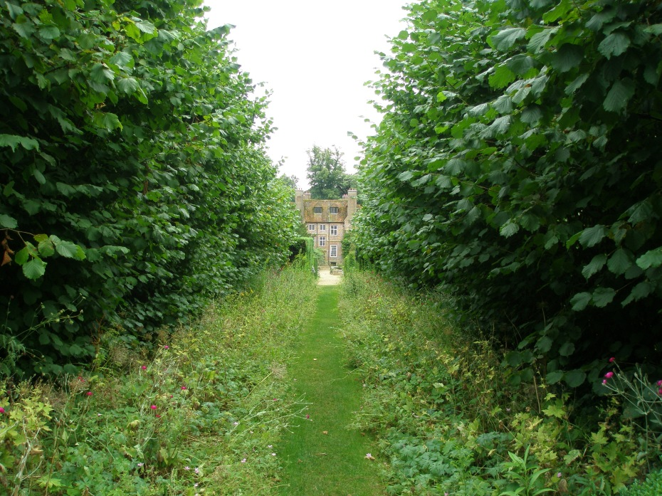 The Narrow Path that separates the Drunken Garden from the Oriental Garden. The House is in the distance.