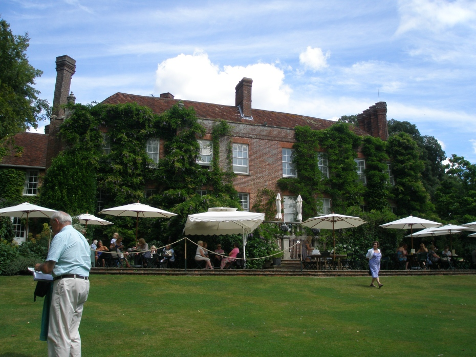 The Cafe's Terrace, which overlooks a broad lawn, and the Old Moat