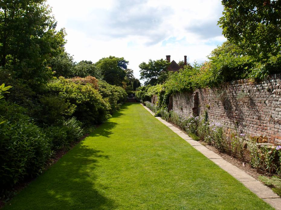 We left the Herb Garden, and ambled down the Moat Walk, which is planted with a long bank of Azaleas along one side.