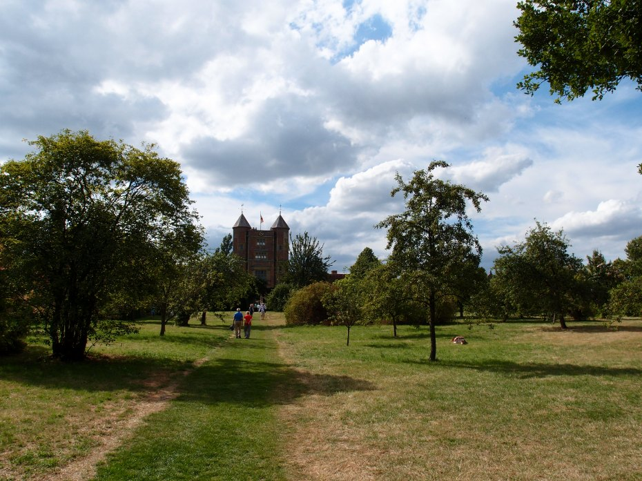 We passed into the wide expanses of The Orchard, which is contained on two sides by the Moat.