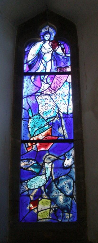 Window by March Chagall, at All Saints Church.