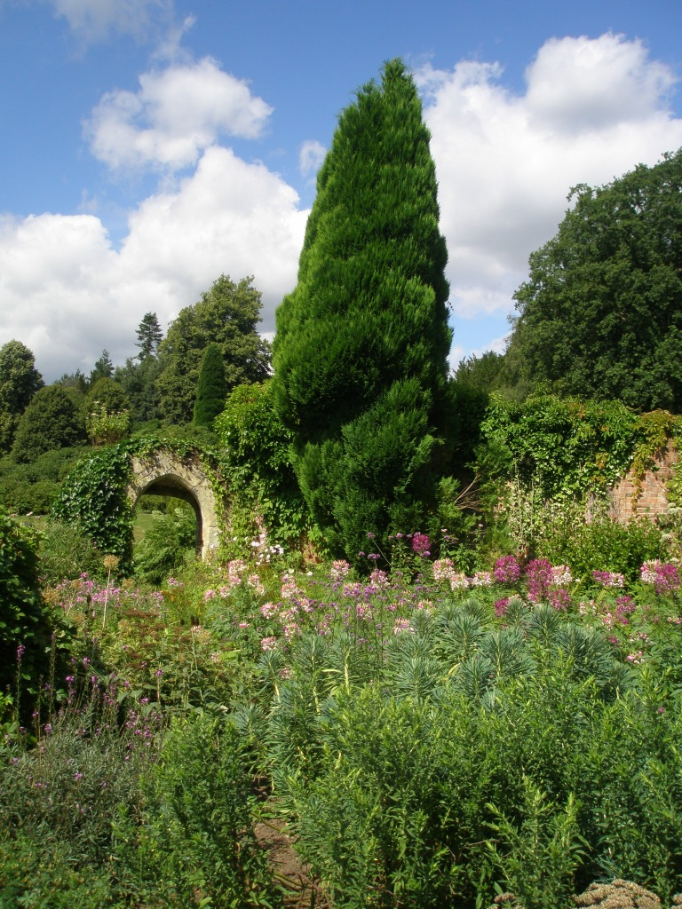 Lush plantings in the Old Castle Gardens