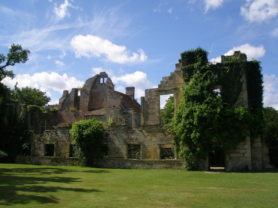 The walls of the Old Castle's 17th century wing, seen from the Lawn