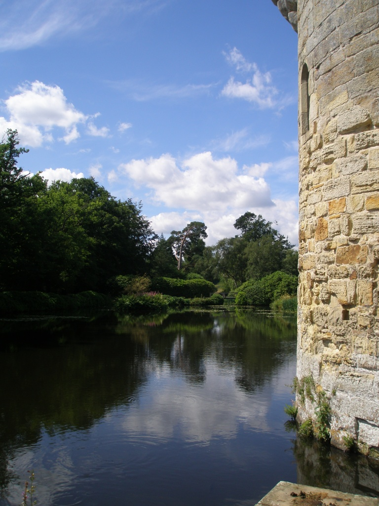 A view across the Moat, from behind the Old Castle's tower.
