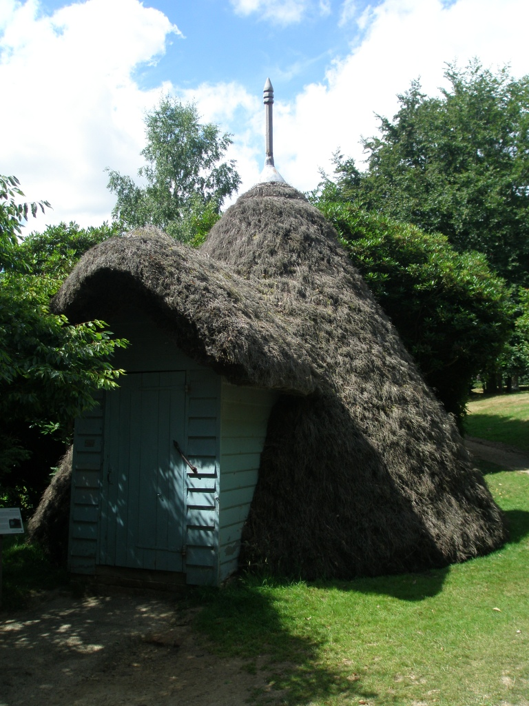 The tent-shaped Ice House is at the outer edge of the Moat, on the north-east corner.