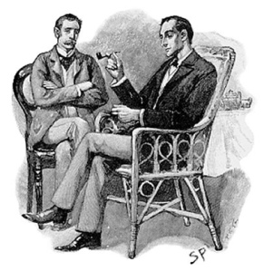 Sidney Paget's illustration of Doctor Watson and Sherlock Holmes
