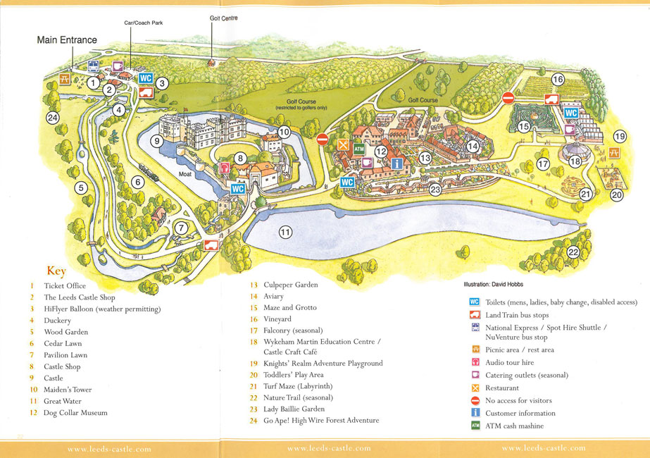 Map of the grounds at Leeds Castle