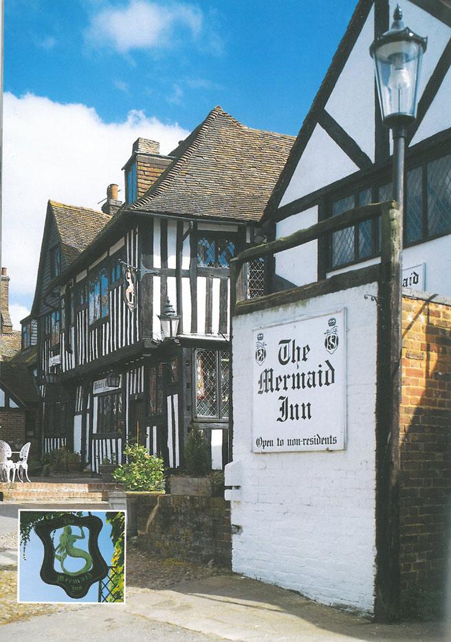 The Mermaid Inn, on a sunny day. Image courtesy of Ann Lockhart.