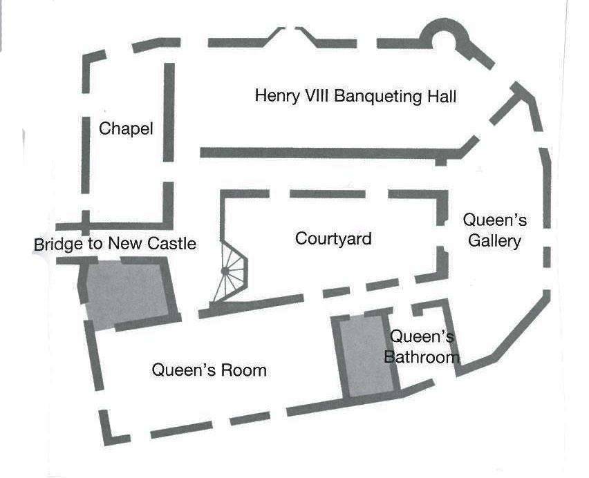 Floor Plan of the Gloriette's Ground Floor. Image courtesy of Leeds Castle.