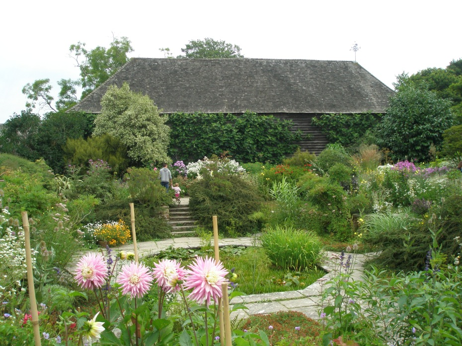 The Sunk Garden, with the Great Barn
