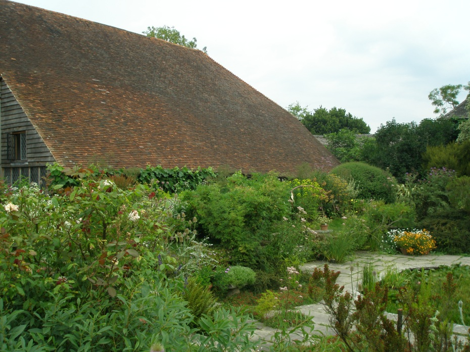 The grand sweep of the Great Barn's roof