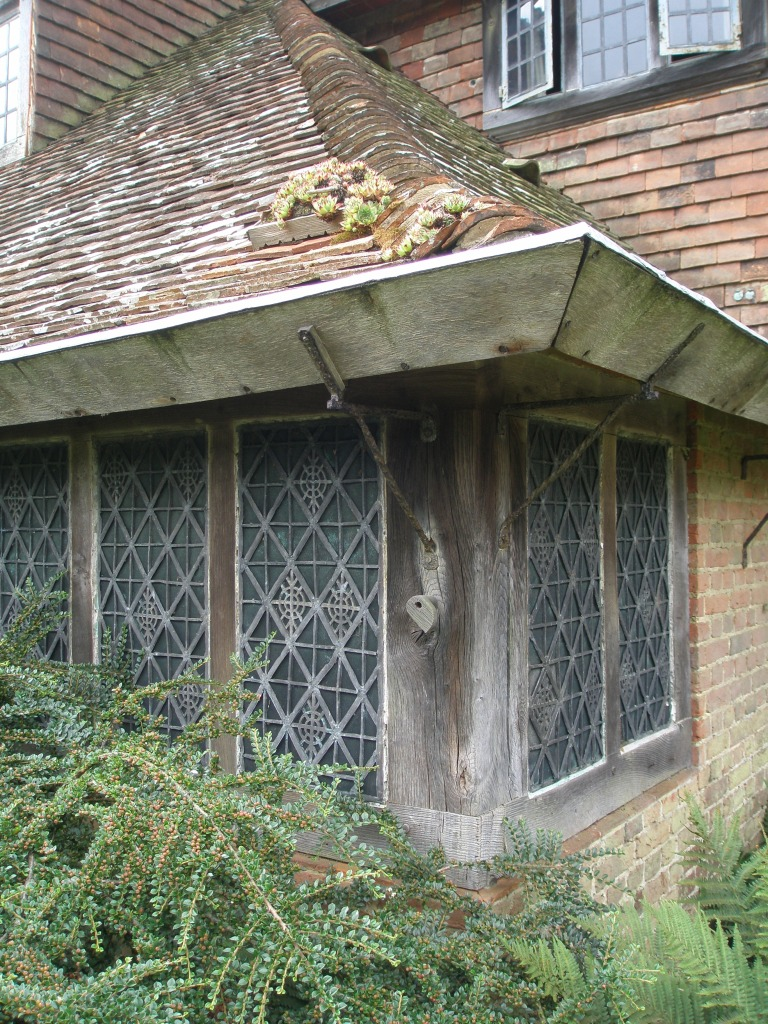 Detail of the house. Note that even the ROOF provides a place for plants to root themselves. This portion of the house was added by Edwin Lutyens in 1912.