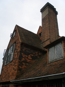 Chimneys and gables of the 1912 Lutyens addition