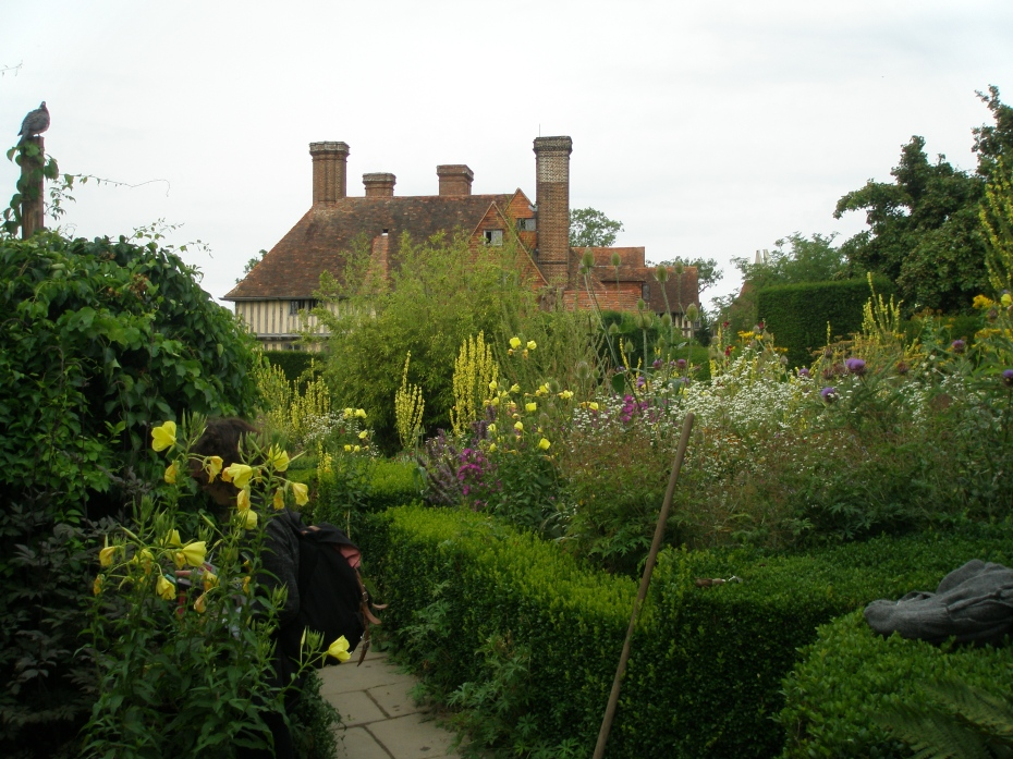 Early in the day, the gardeners toiling at Great Dixter outnumber the visitors.