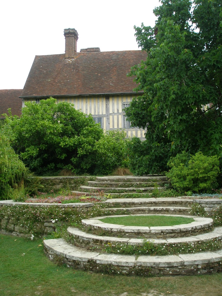 A view of the rear of the house, from the bottom of the Circular Steps.
