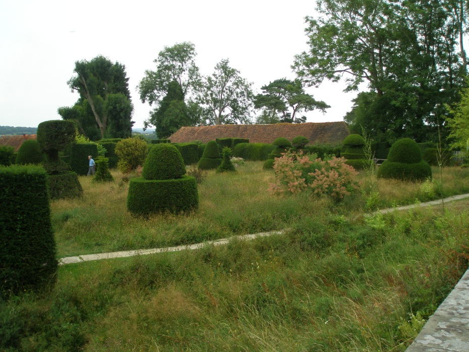 And, for a complete change of pace, along the other side of The Hovel is the Topiary Lawn.