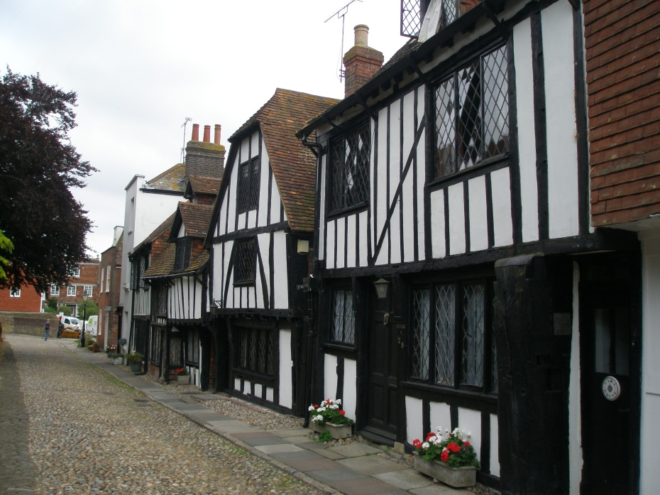 Directly opposite the Churchyard on Watch Bell Street are these ancient buildings, which date from the 15th century.