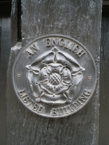 Historic buildings are marked with this beautiful medallion.